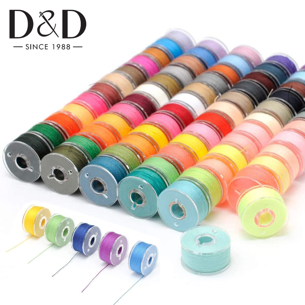 5/10/20pcs Multicolor Sewing Machine Bobbins Reusable Plastic Bobbins Spools with Thread for Embroidery Sewing Accessories|Sewing Tools & Accessory| - AliExpress