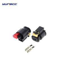 2sets 2Pin waterproof sensor VVT plugs auto cam into the exhaust solenoid valve harness connector 284556-1