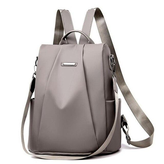 2021 Hot Women's Backpack Casual Nylon Solid Color School Bag Fashion Detachable Shoulder Strap Shoulder Bag