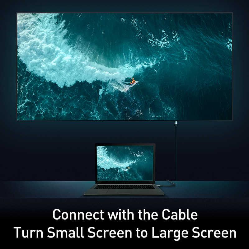 Baseus DP כדי HDMI כבל 4K זכר זכר תצוגת יציאת DisplayPort כדי HDMI כבל מתאם עבור מקרן PS4 מחשב HDTV ממיר כבל