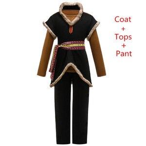 Image 1 - Disfraz de reina de la nieve Kristoff para niños, traje de tres piezas para fiesta de carnaval, ropa de fantasía para niños, conjuntos de película para niños