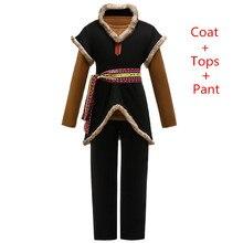 Królowa śniegu Kristoff Cosplay kostiumy dla dzieci karnawał Party trzyczęściowy strój przebranie dzieci odzież Movie Boys Sets