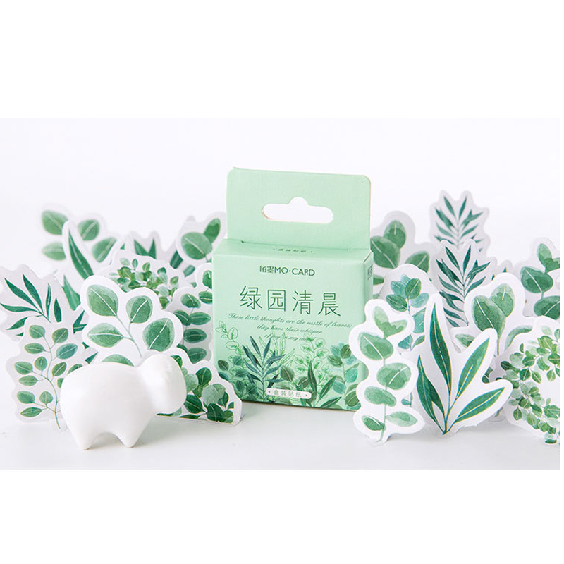 20packs/lot Fresh And Cute Mini Box Stickers Adhesive Decoration Green Garden Photo Album Stationery