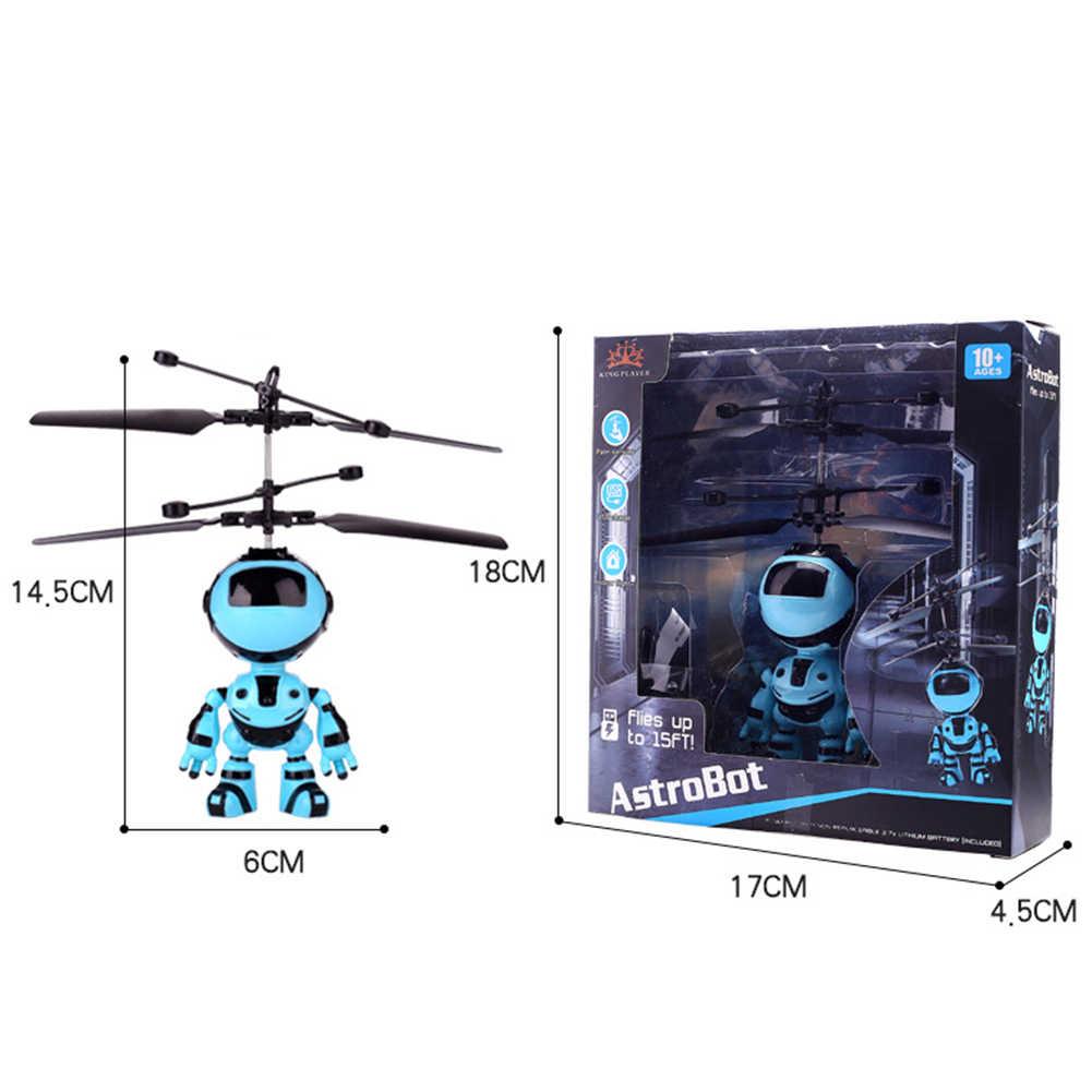 Isi Ulang Tangan Sensor Elektronik Pesawat Suspensi Tangan Penginderaan Rintangan Terbang Robot Hadiah Mainan Anak Gantung Plastik Mainan