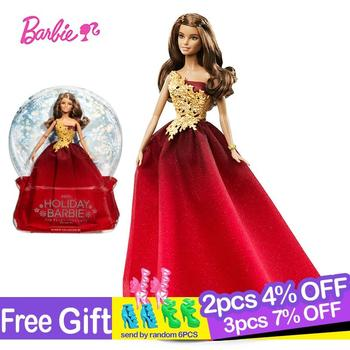 цена на Barbie Original Brand Dolls Holiday Ethnic Collectible Doll Princess Toy Girl Birthday Present Girl Toys Gift Reborn Boneca