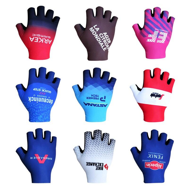 Гренадера INEOS велосипедные перчатки на пол пальца Для мужчин Для женщин Для мужчин спортивные велосипедные перчатки анти-занос, удар поглощ...