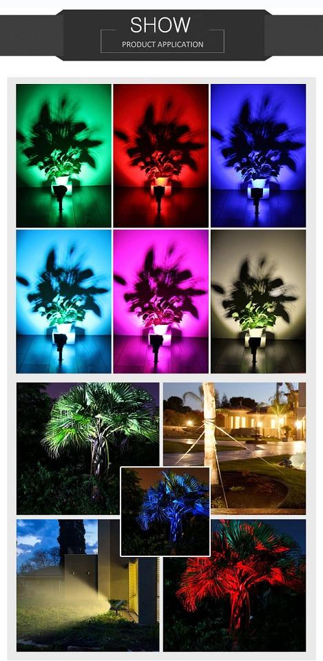 Holofotes solares ao ar livre solar jardim