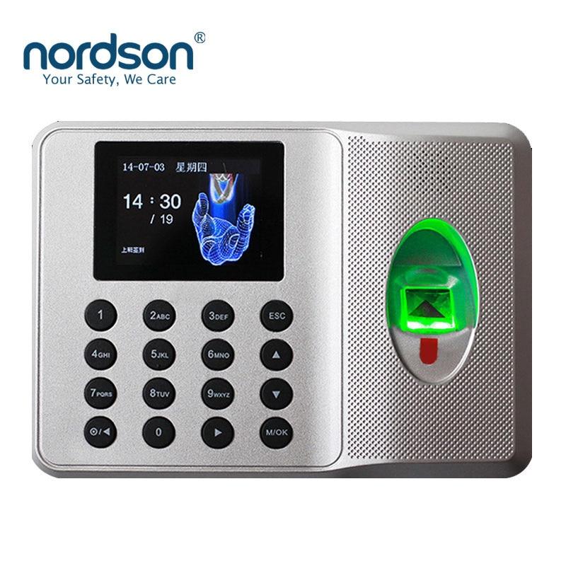 Nordson Original Multi-Language Fingerprint Time Attendance With Keypad TFT Screen  Time Clock Recorder Employee Check-in Reader