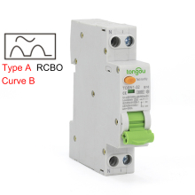 Type A Curve B RCBO 6KA 18mm 32A 10mA 30mA 300mA 1P N Residual Current Circuit Breaker with Over Current and Leakage Protection