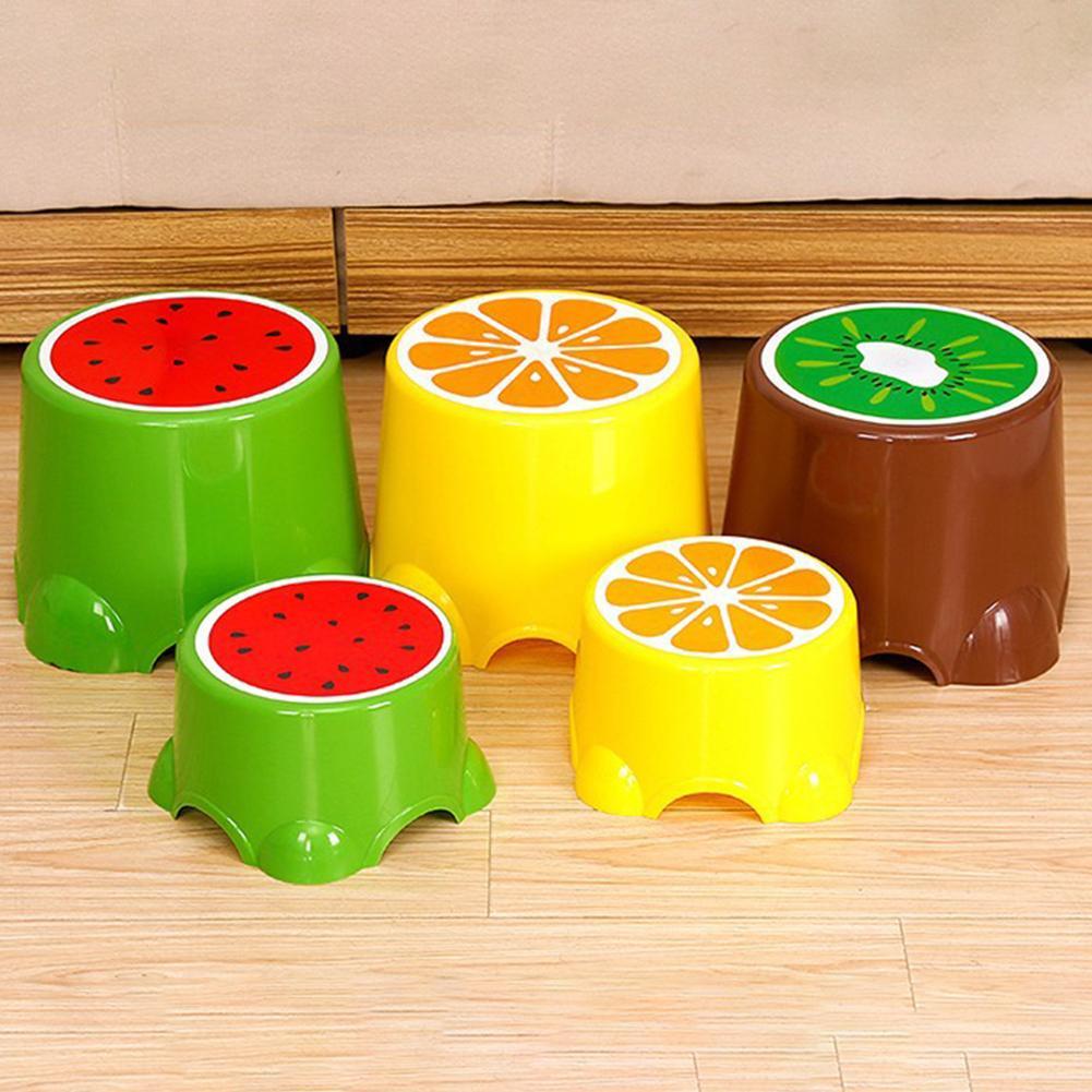 HOT SALES !!! Plastic Cartoon Fruit Pattern Anti-Slip Baby Children Toilet Bathroom Foot Stool Wholesale Dropshipping