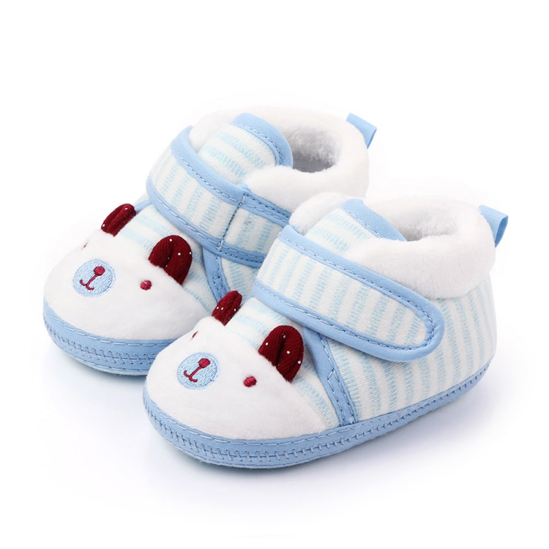2019 New Cute Bear Winter Baby Girl Boy Booties Infant Toddler Snow Boots Newborn Warm Anti-slip Soft Sole Shoes 0-18M