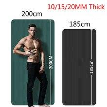 Esterilla de Yoga de 10/15/20mm, tapetes deportivos antideslizantes para gimnasio en casa, almohadillas de Fitness para gimnasia y baile