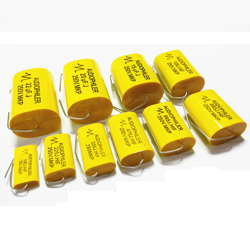 2pcs 1.0uF-<font><b>15uF</b></font> <font><b>250V</b></font> Car Audio Speaker Frequency Divider Crossover Polypropylene Film Non-Polarity <font><b>Capacitor</b></font> image