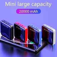 Mi ni Power Bank 20000mAh Für Xiao mi Tragbare Ladegerät Power 20000 Schnelle Lade LED Dual USB mi PoverBank batterie Externe