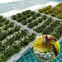 Arbusto de una hoja, césped artificial, paisaje de simulación, modelo, Wargams, Material de bricolaje, PJ04