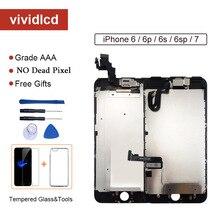 Grade AAA + + + Dello Schermo Per il iphone 6 6S Plus LCD Digitizer Assemblea Completa Per il iphone 7 Display per Apple con la Macchina Fotografica ear speaker