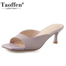 Taoffen Women Sandals Shoes Fashion Open Toe Special High He