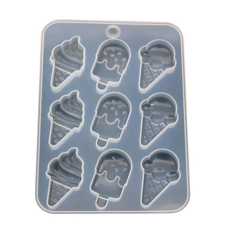 Ice Cream Mold Mirror Handmade Pendant Making Silicone Mold Diy Silicone Crystal Epoxy Mold