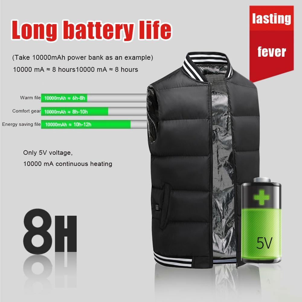 USB зарядка с подогревом жилет мужчины женщины электрический с подогревом куртка термобелье жилет куртка с подогревом жилет куртка мужчины тактический жилет Chauffante