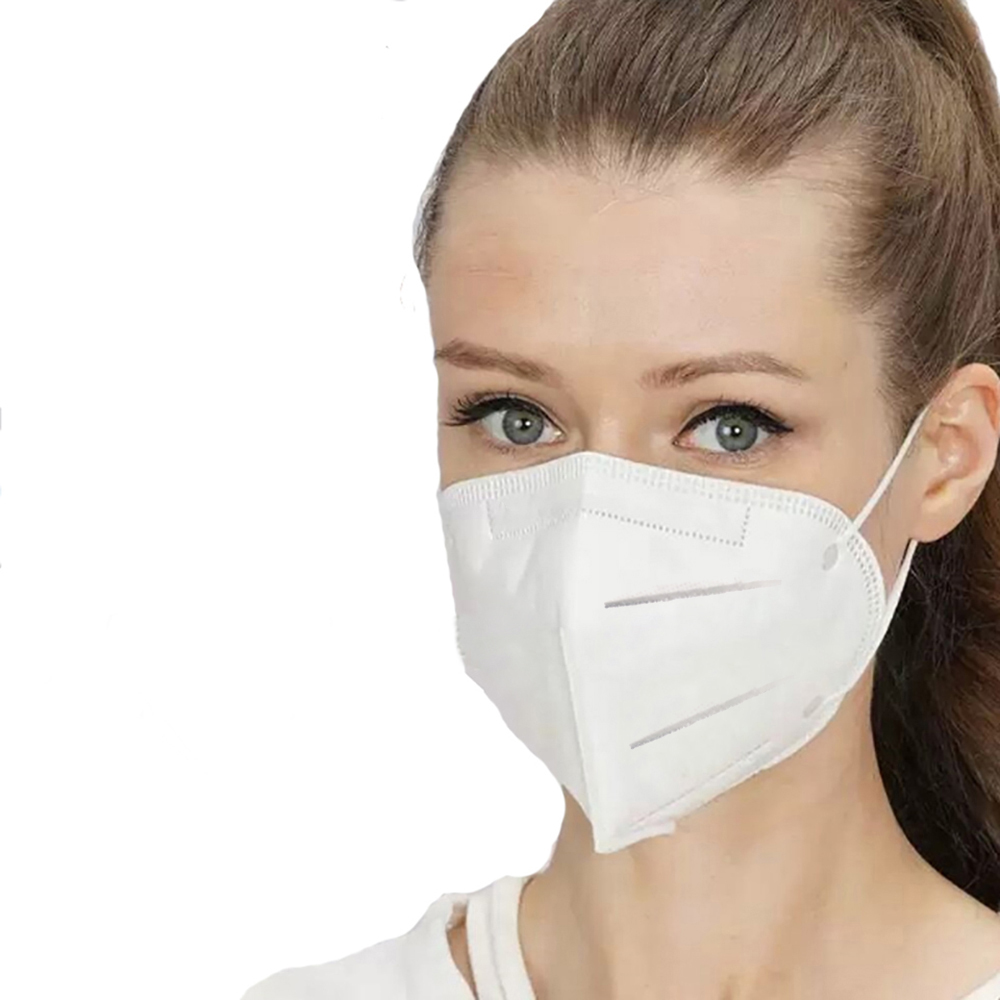 100Pcs KN95 Mask Non-woven Effective Anti Dust Mask Filter Riding Face Mouth Protective For Breathe Safely With CE Certification