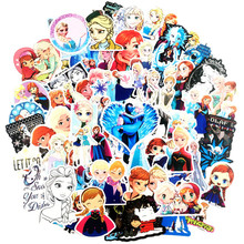 100Pcs stickers Frozen-stickers childrens PVC graffiti suitcase car boot guitar waterproof