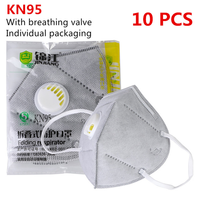 N95 Mask Mouth Face Dust Mask FFP2 KN95 Masks Breathing Respirator Safety Protective Reusable Mask Anti Dust Facial Filter Masks