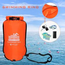Dry-Bag Waist-Belt Tow-Float Swimming Buoy Water-Sport Inflatable Open with for 20L PVC