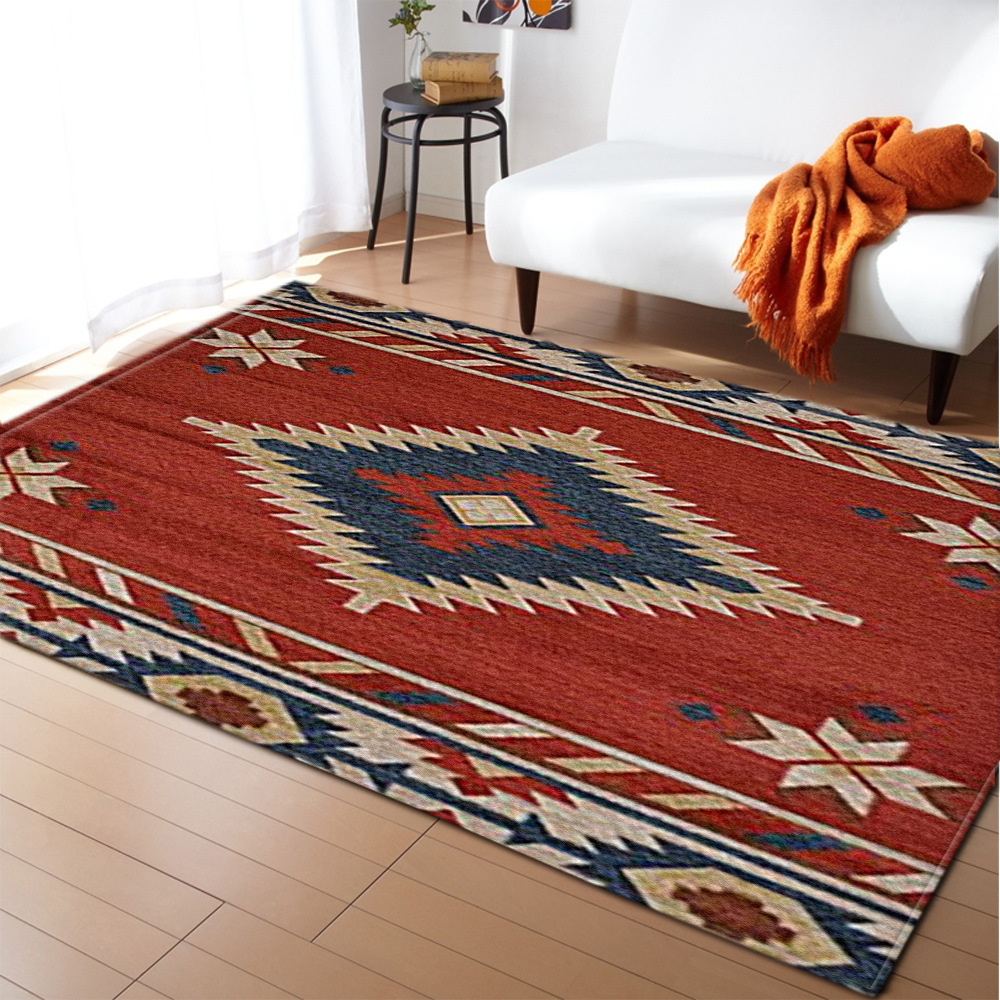 Bohemian Retro Style 3D Carpets For Living Room Bedroom Area Rugs Home Hallway Aisle Kitchen Mats Modern Household Large Carpet