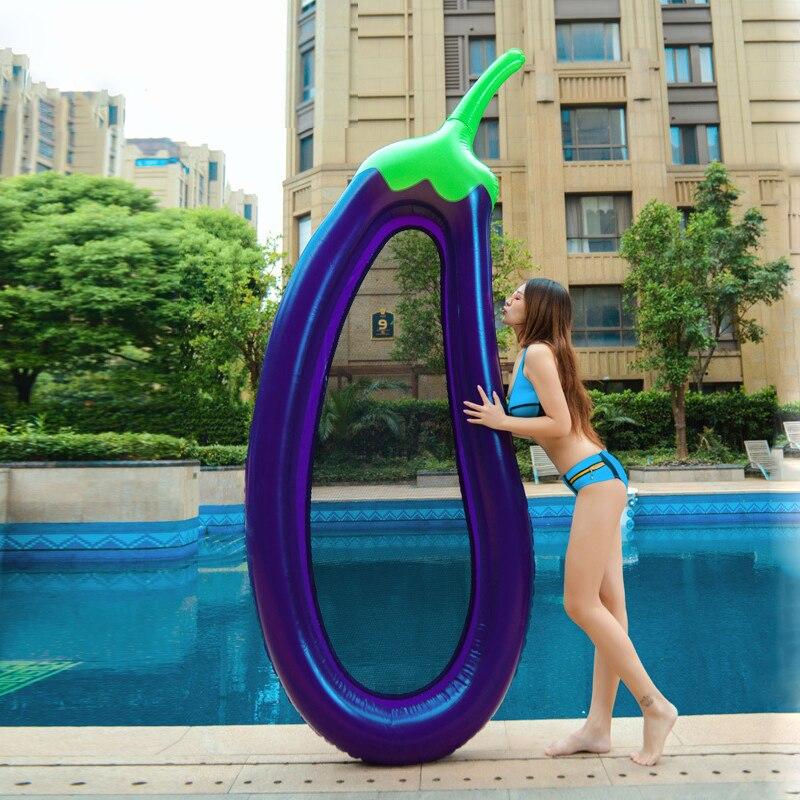 220cm aubergine Gonflable anneau de natation piscine flotteur Gonflable matelas de natation enfants flotteur lit Gonflable piscine partie jouet eau boia