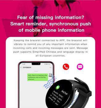 D18S Smart Watch Man Women Fitness Blood Pressure Heart Rate Monitor Pedometer Fashion Watches Sports Waterproof SmartWatch 6