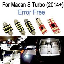 10pc X wolne od błędów LED wnętrze dome mapa lampka do czytania zestaw dla Porsche dla Macan S Turbo (2014 +)