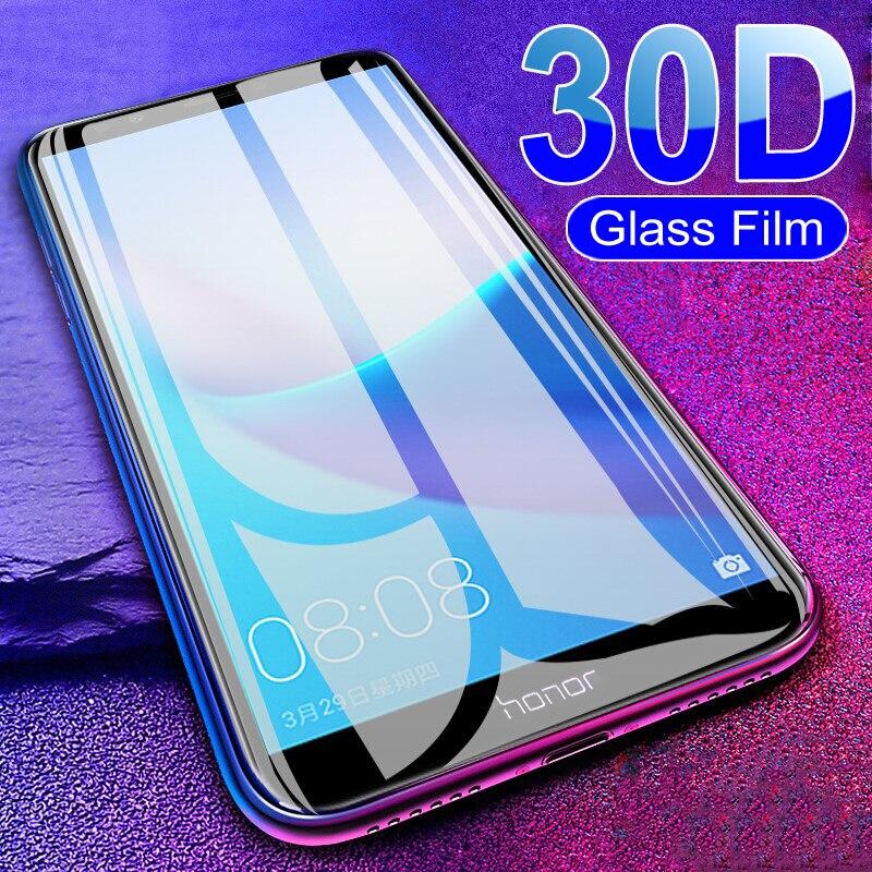30d capa completa de vidro protetor para huawei honor 7x 7a 7c pro 7s honra 8 9 lite v10 v9 jogar filme protetor de tela de vidro temperado