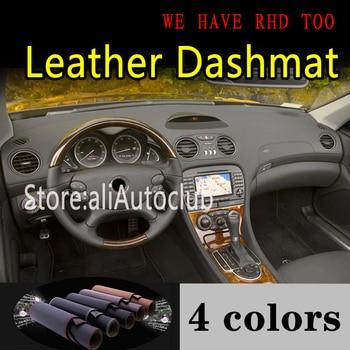 Para mercedes-benz SL clase AMG R230 g5 2002-2011 SL350 SL500 SL63 SL65 tablero de cuero Dashmat cubierta Dash Mat alfombra de sombrilla
