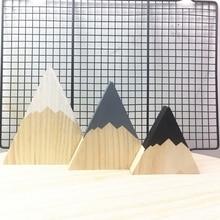 Скандинавские верхние деревянные горные декоративные украшения ручной работы для книг для детей домашний декор деревянные горные отделочные блоки для детской комнаты