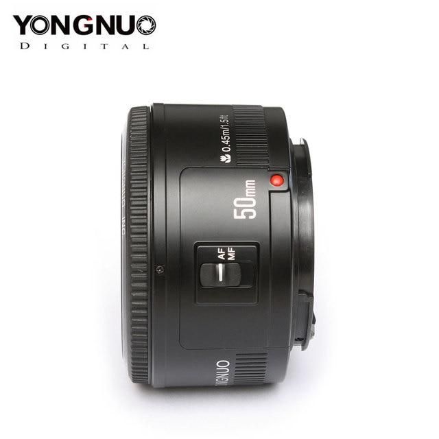 Dorigine YONGNUO YN50mm F1.8 Objectif Pour Nikon D800 D300 D700 D3200 D3300 D5100 Objectif Dappareil Photo REFLEX NUMÉRIQUE Pour Canon EOS 60D 70D 5D2 5D3 600D