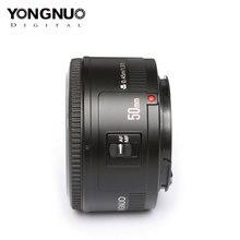 YONGNUO lente YN50mm F1.8 Original para Nikon D800 D300 D700 D3200 D3300 D5100 lente de cámara DSLR para Canon EOS 60D 70D 5D2 5D3 600D