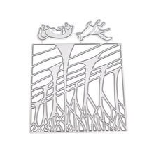 Cutting Die DIY Two Foxes Forest Shape Carbon Steel Cut Stencils Die Cuts Cut for Embossing Cards Photo Album Scrapbooking(China)