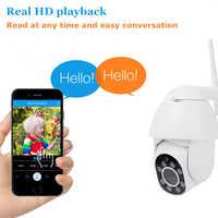 Cámara HD 1080P PTZ Wifi IP visión nocturna a todo color exterior velocidad Domo inclinación 4X Zoom Digital red 2MP vigilancia CCTV