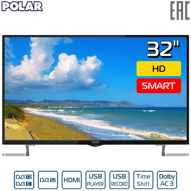 "Телевизор 32"" POLAR P32L21T2SCSM HD SmartTV"