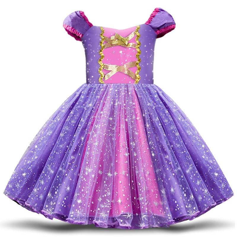 Baby Girls Birthday Party Tutu Princess Costume Toddler Kids Polka Dot Dress with Headband Outfits Children Vestidos 6
