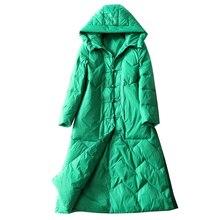 Winter Jacket Women 2020 Long Down Parkas Womens 90% White D