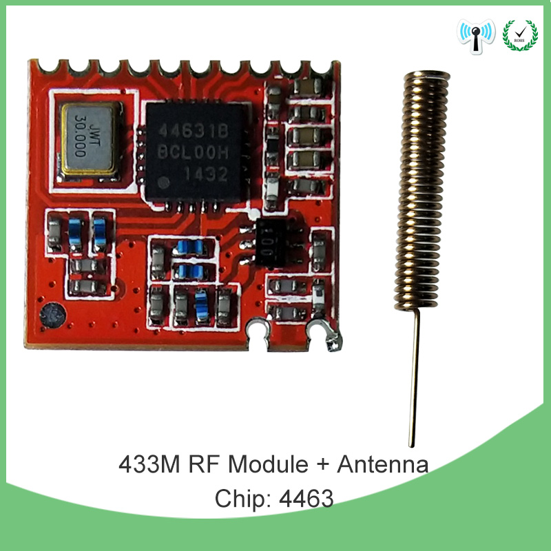 2pcs 433MHz RF Module 4463 Chip Long-Distance Communication Receiver And Transmitter SPI IOT And 2pcs 433 MHz Antenna