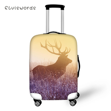 ELVISWORDS Fashion Water-proof Suitcase Cover Fantasy Deer Pattern Luggage Elastic Dust-proof Travel Protector
