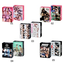 30Pcs/Box Kpop ATEEZ Astro SEVENTEEN IZONE ITZY Photocard Lomo Card Photograph Cards Fans Gift