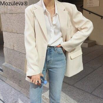 Mozuleva vêtements coupe large femmes costume veste printemps été Femme Jacke 2020 élégant Chic simple boutonnage femmes Blazer Femme 1