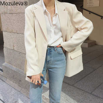 Mozulevat vêtements coupe large femmes costume veste printemps été Femme Jacke 2020 élégant Chic simple boutonnage femmes Blazer Femme