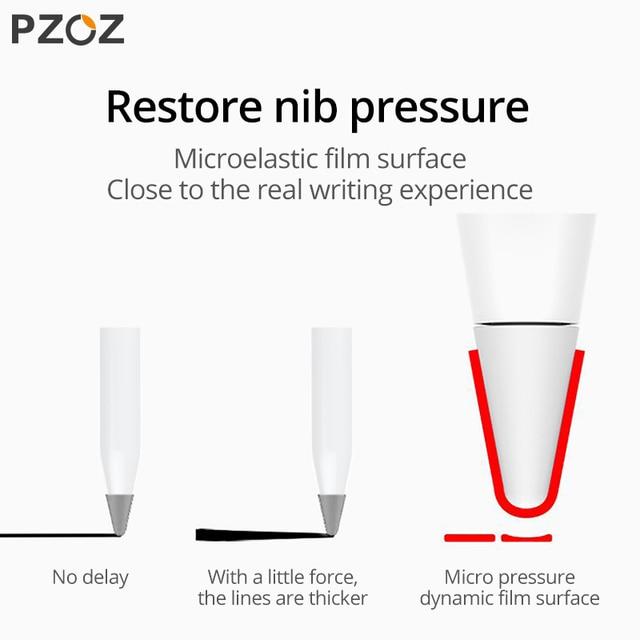 PZOZ 8 pcs for Apple Pencil 1 2 Tablet stylus Touch Pen nib case Soft silicone Protective case for apple Pen case touch cover 4