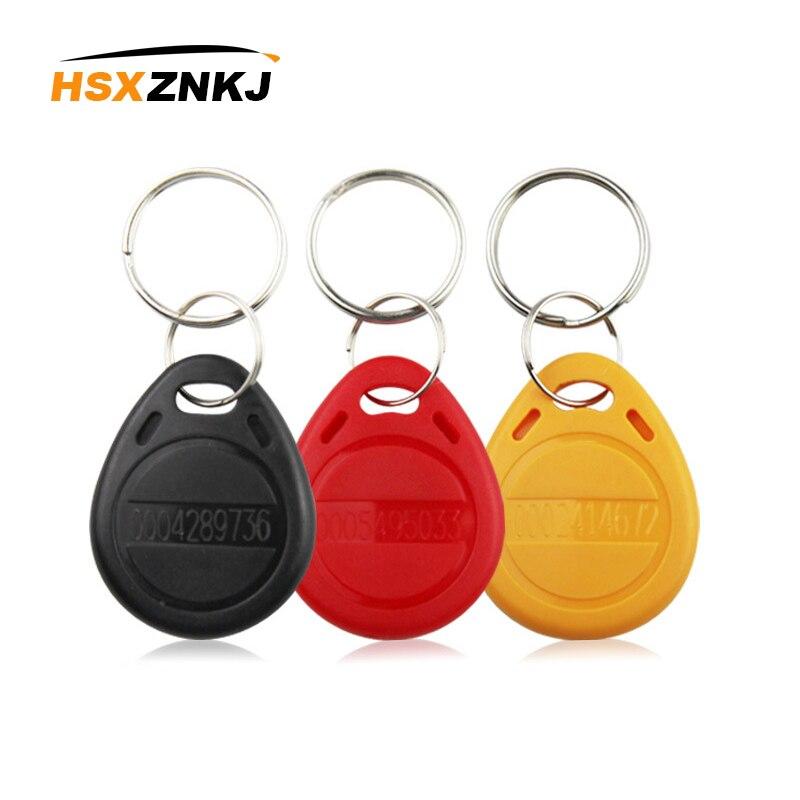 50PCS 125KHz RFID EM4100 TK4100 Keychain Recordable Keychain Keychain ID Access Card Read-only Control RFID Card