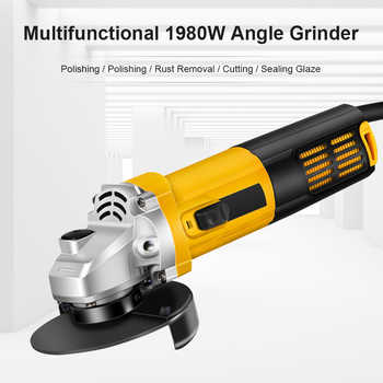 1980W Electric Angle Grinder Grinding Machine 100mm 11000RPM lectric Grinding Machine Power Tool Grinding Cutting Grinding Metal - DISCOUNT ITEM  51 OFF Tools