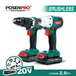 LANNERET Brushless Electric Drill Driver Drill 20V 50N.m Cordless Drill Lithium Battery 13MM Drill Keyless Hammer Drill